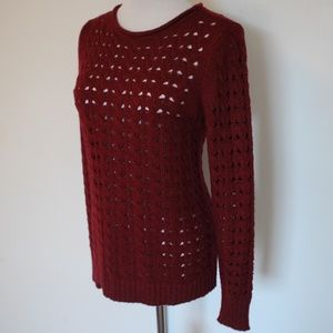 CHRISTOPHER & BANKS Sweater Small Red Burgundy
